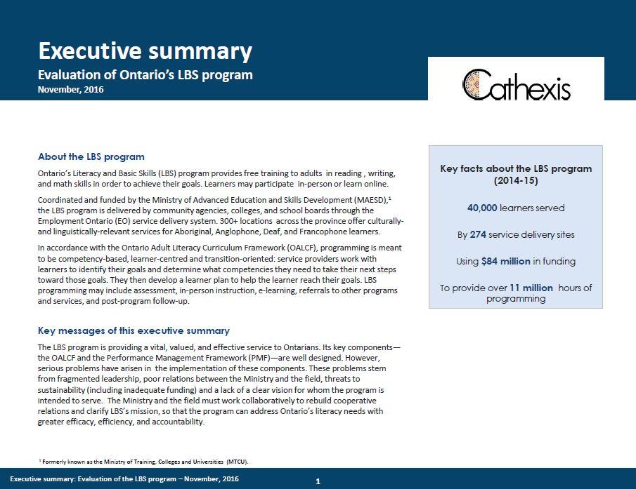 LBS report