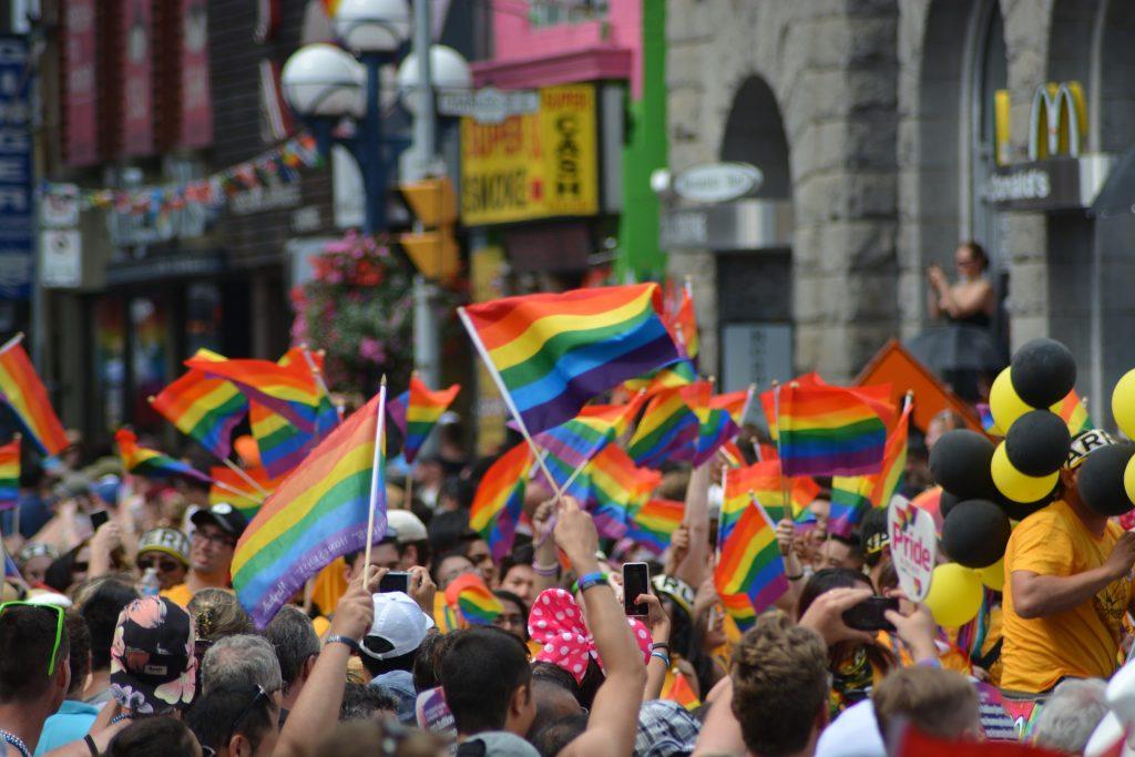 In-person pride celebration.
